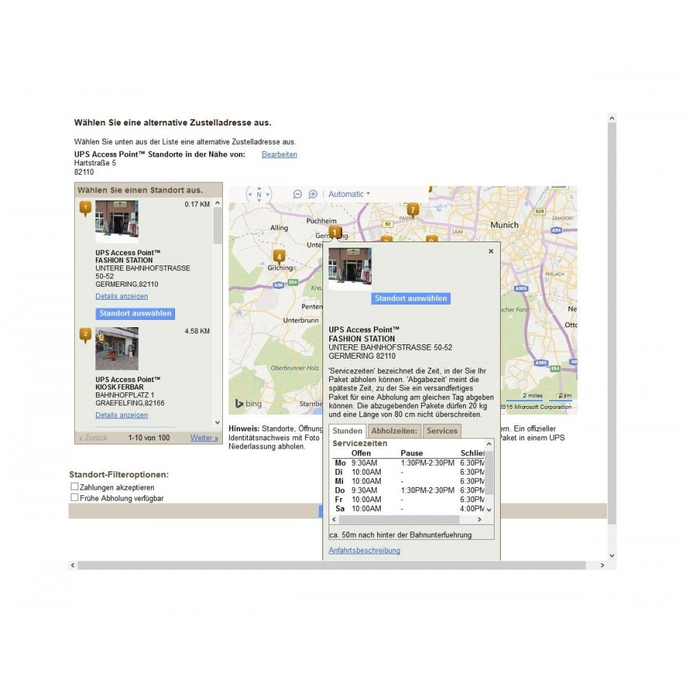 module - Point Relais & Retrait en Magasin - UPS Store Locator - 4