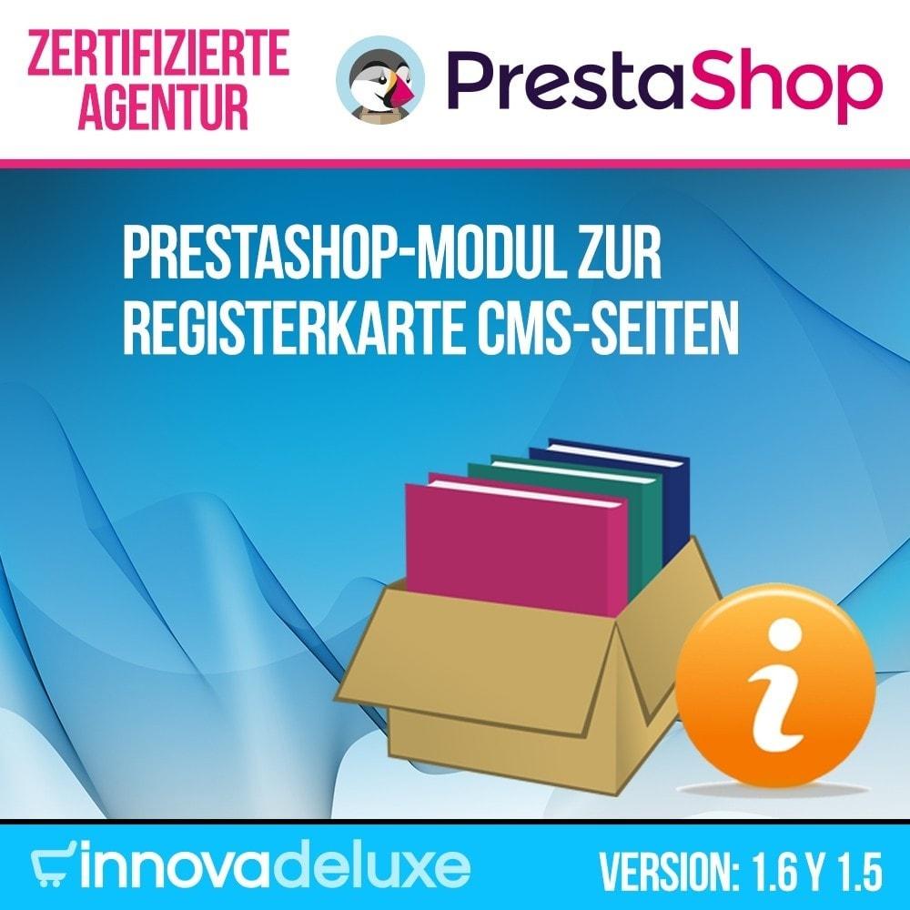 module - Zusatzinformationen & Produkt-Tabs - Registerkarte CMS-Seiten - 1