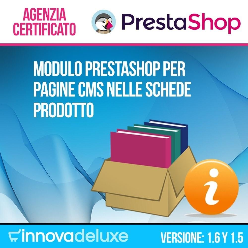 module - Altre informazioni & Product Tab - Pagine CMS nelle schede prodotto - 1