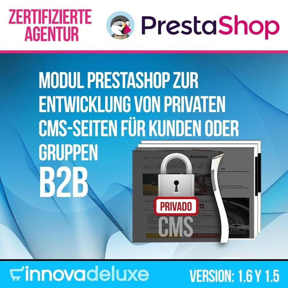 module - B2B - Private CMS-Seiten (Private Inhalte) B2B - 1