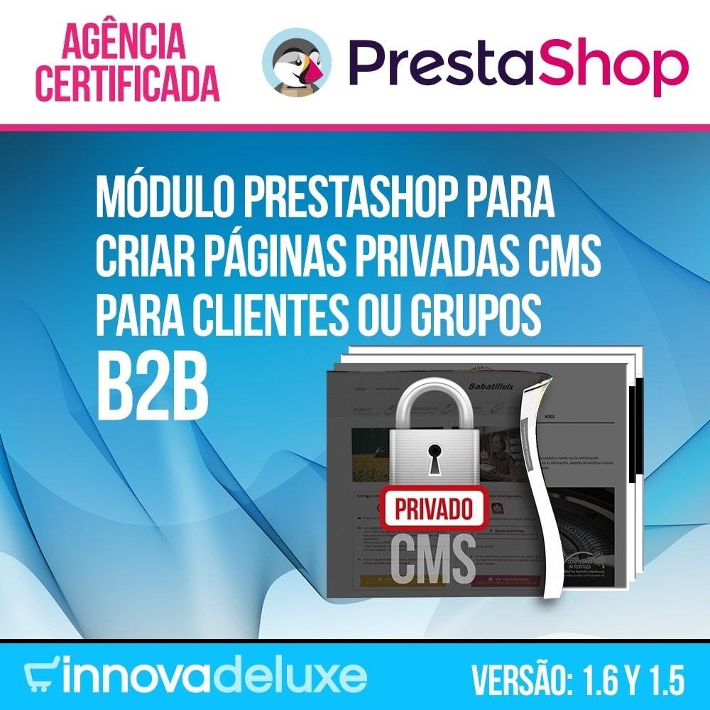 module - B2B - Páginas CMS privadas (Conteúdo Privado) B2B - 1