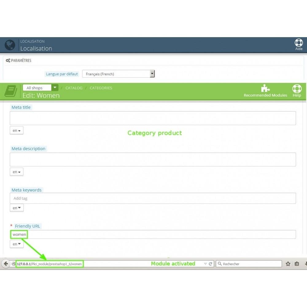 module - Gestão de URL & Redirecionamento - Url cms produits categories modifier - 2