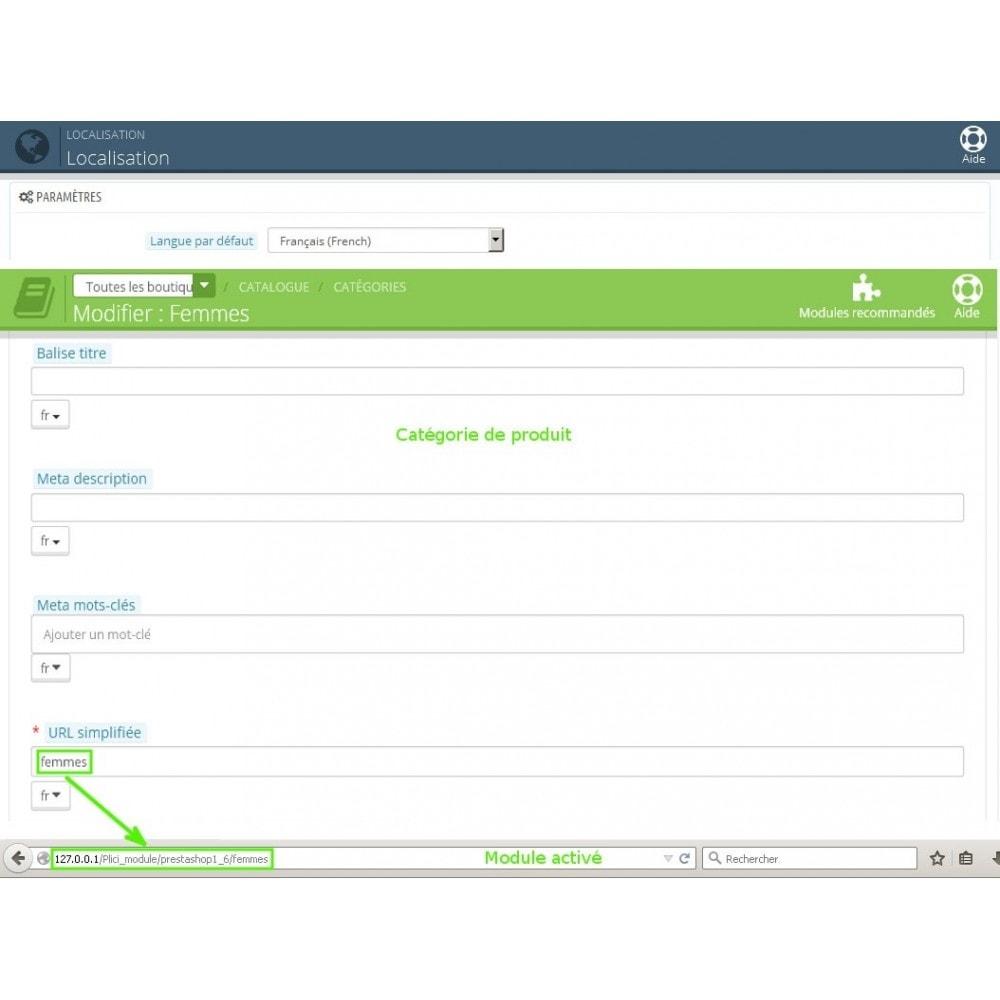module - URL & Redirections - Url cms produits catégories modifier - 2