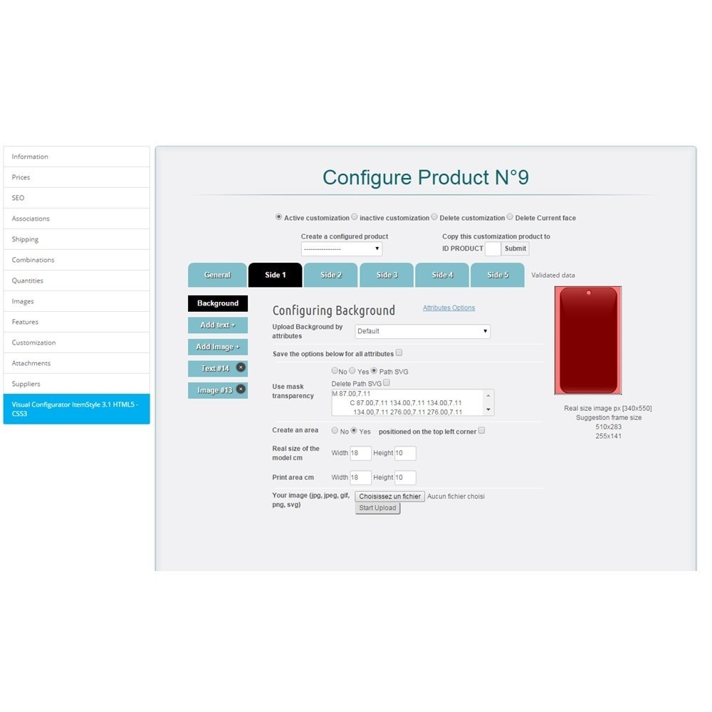 module - Combinations & Product Customization - Product Designer ItemStyle 3.2.A - 3