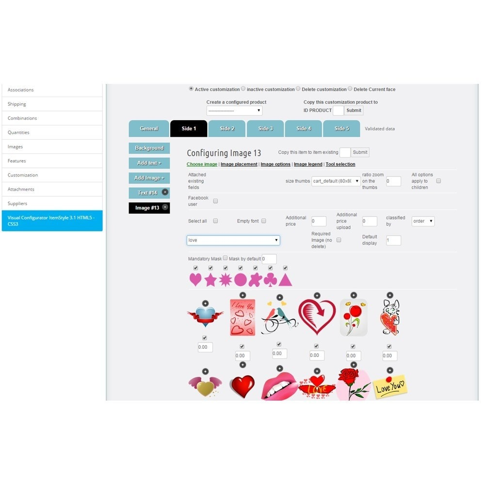 module - Combinations & Product Customization - Product Designer ItemStyle 3.2.A - 5