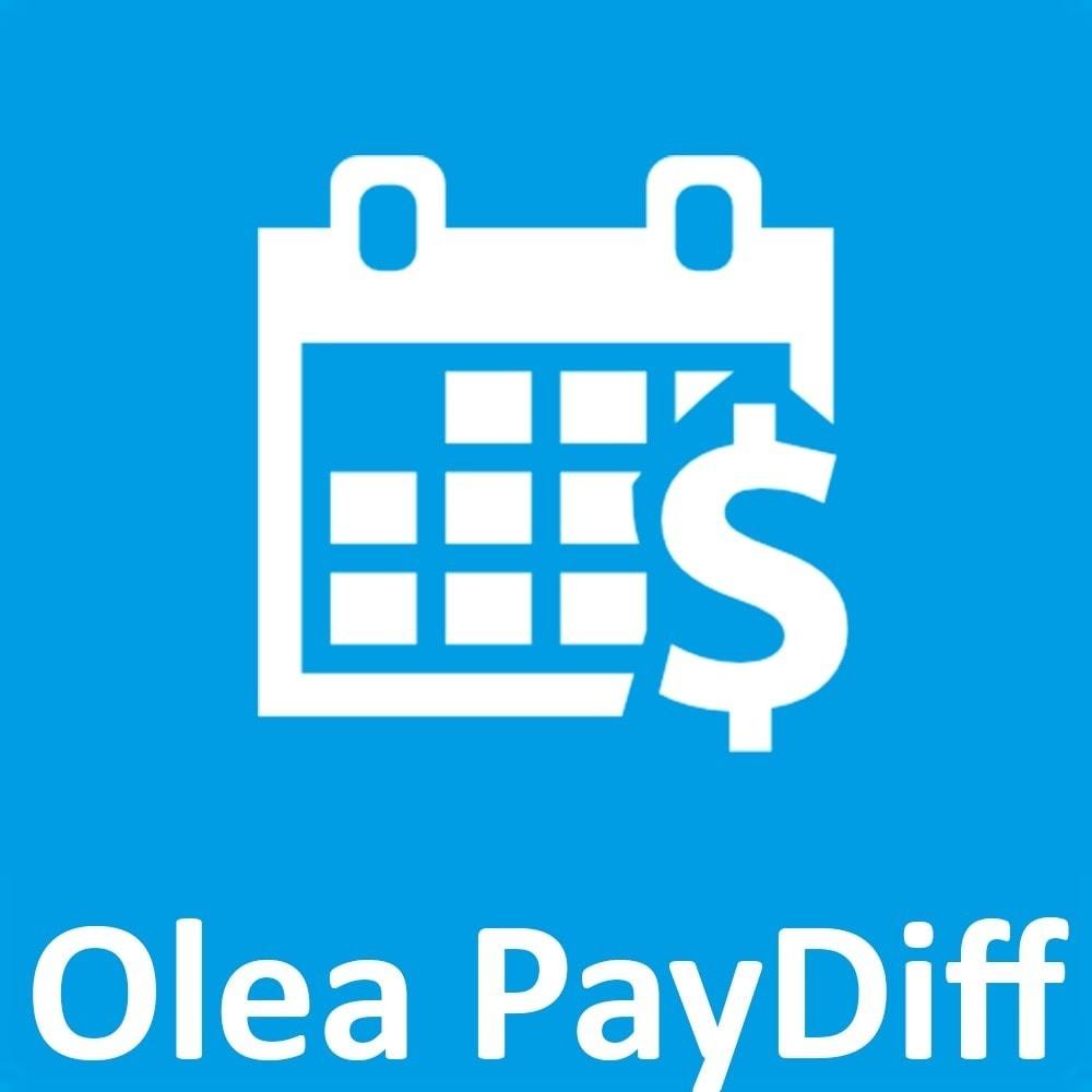 module - Autres moyens de paiement - OleaPaydiff - Paiements différés au mois - 1
