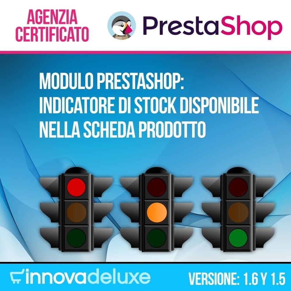 module - Altre informazioni & Product Tab - Indicatore di stock disponibile nella scheda prodotto - 1