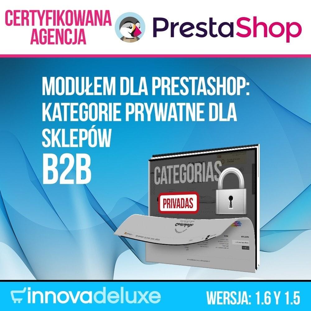 module - B2B - Kategorie prywatne dla sklepów b2b - 1