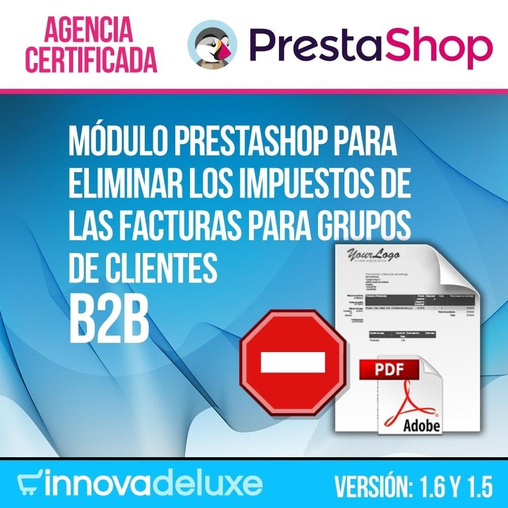 module - B2B - Eliminación de impuestos de facturas para B2B - 1
