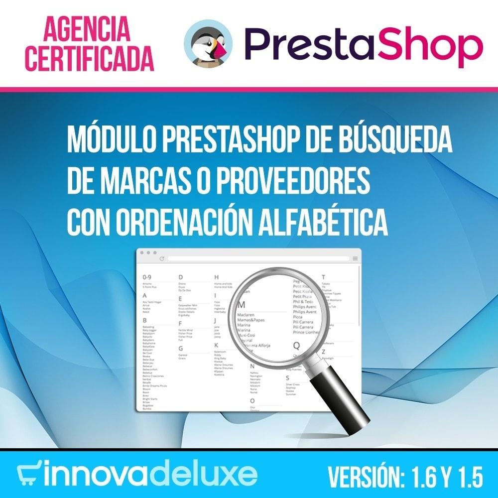 module - Búsquedas y Filtros - Buscador alfabético de fabricantes o proveedores - 1