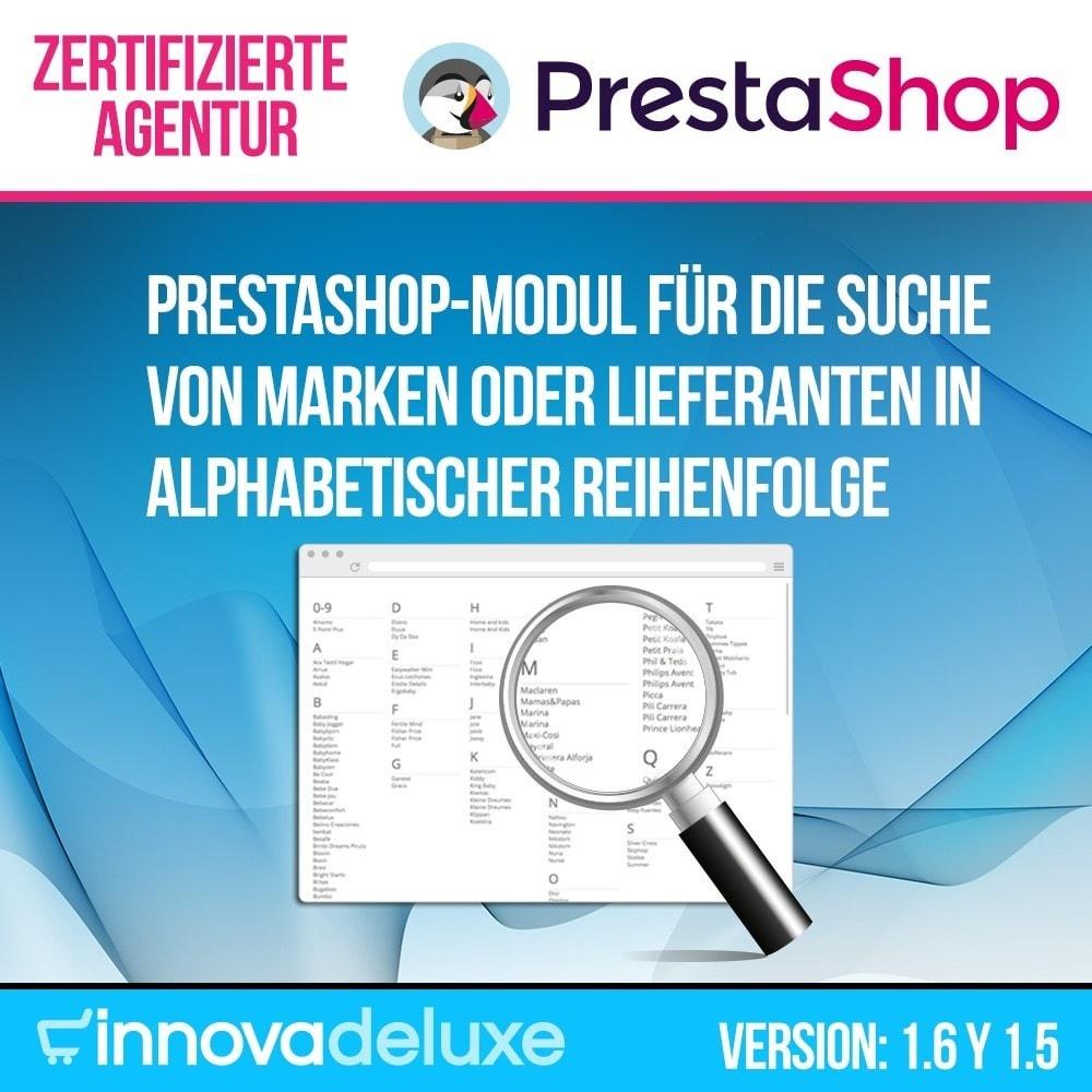 module - Suche & Filter - Alphabetische Suchmaschine für Marken oder Lieferanten - 1