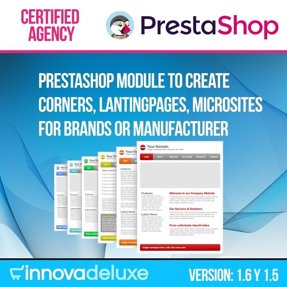 module - SEO - Landing pages, cornes or microsites creator - 1