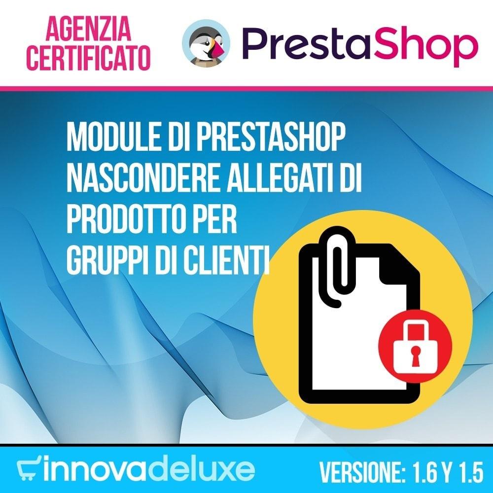 module - Gestione clienti - Nascondere allegati di prodotto per gruppi di clienti - 1