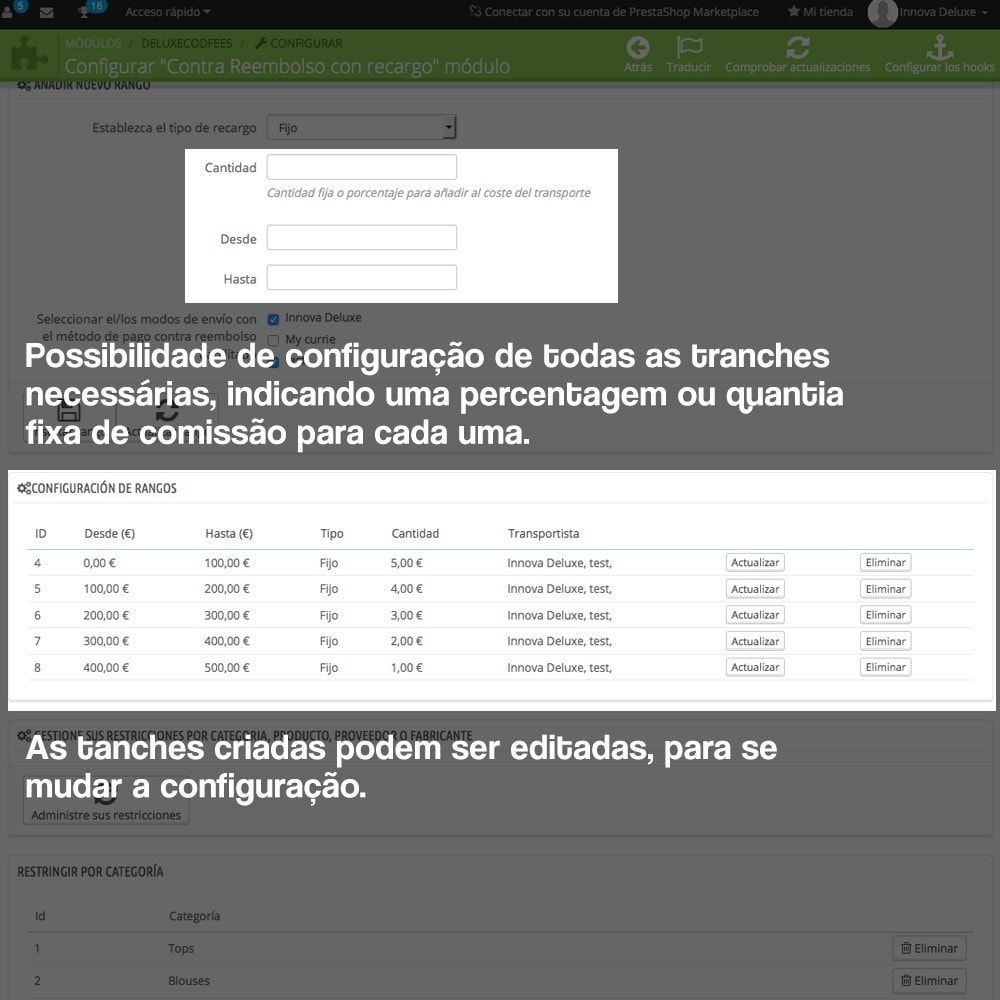 module - Pagamento em dinheiro na entrega - COD - Cashdelivery with fee (ranks and restrictions) - 7