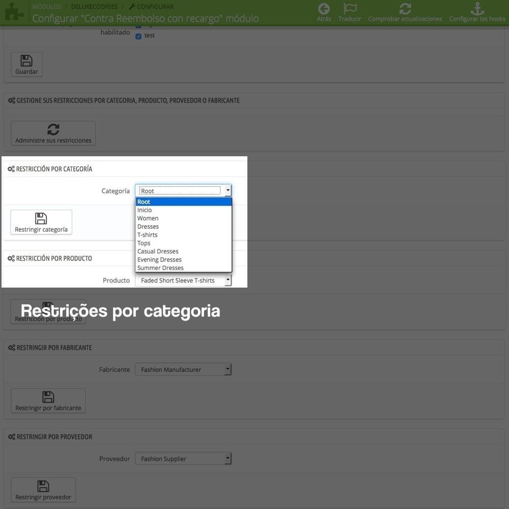 module - Pagamento em dinheiro na entrega - Contra-reembolso com sobretaxa (intervalos/restrições) - 10