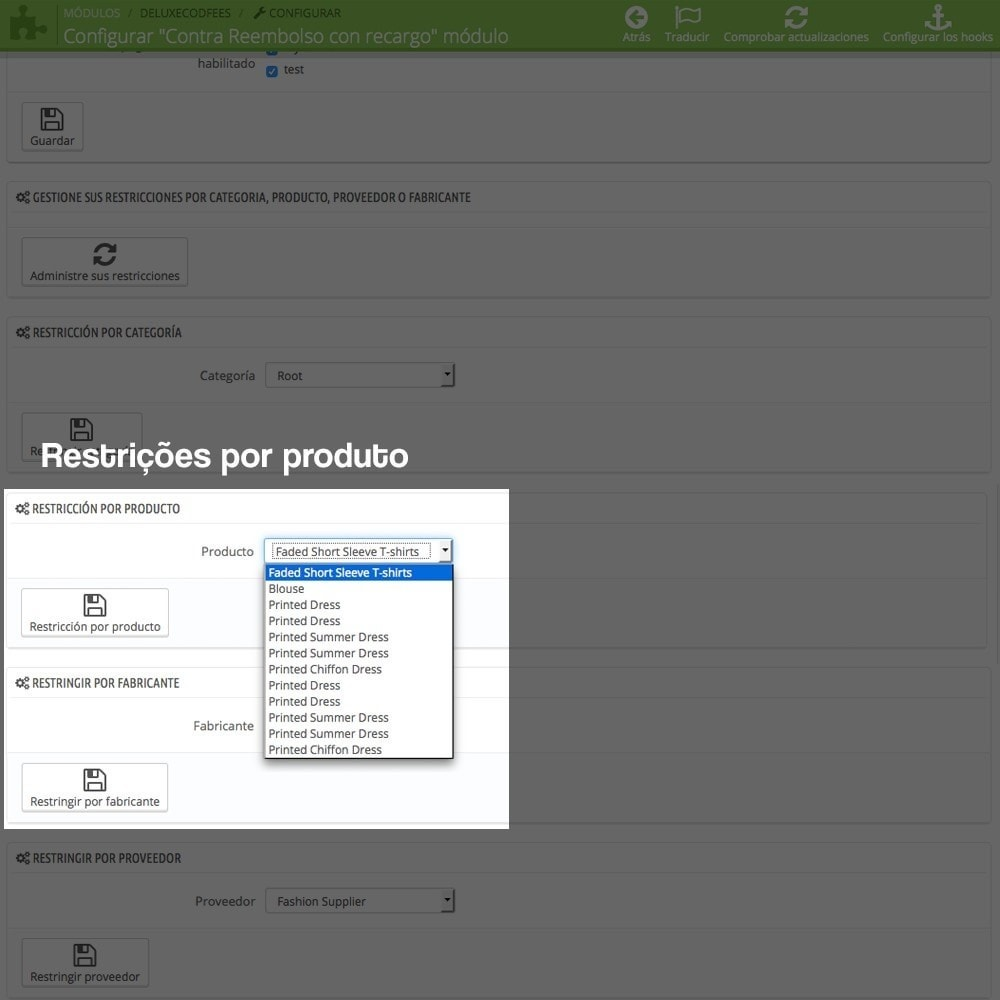 module - Pagamento em dinheiro na entrega - COD - Cashdelivery with fee (ranks and restrictions) - 11