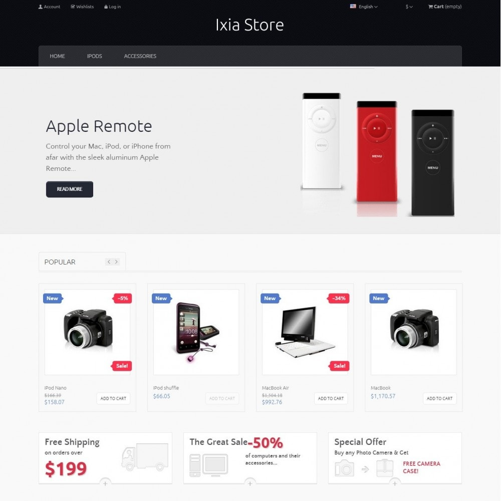 theme - Electronique & High Tech - Ixia - Hi-tech Boutique - 2