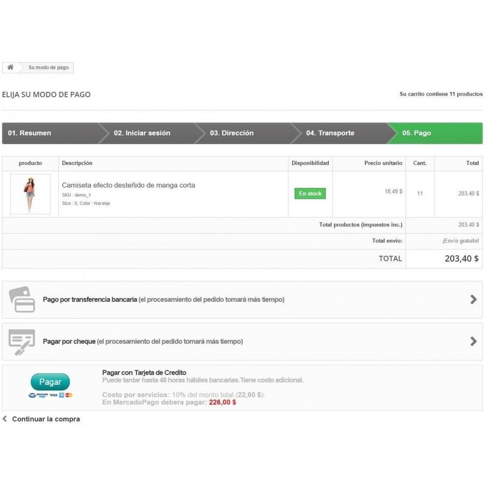 module - Creditcardbetaling of Walletbetaling - MercadoPago Chile Pro - 4