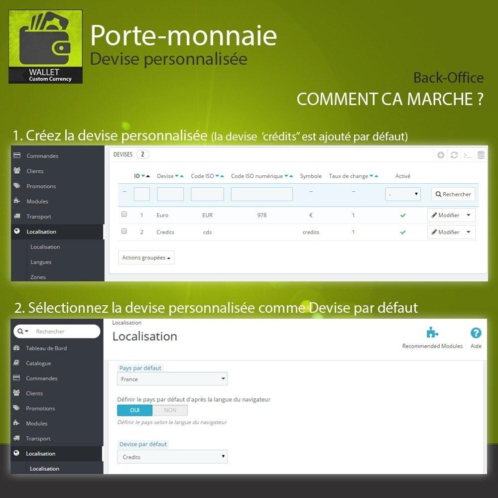 module - Paiement par Carte ou Wallet - Porte-monnaie - Devise personnalisée - 2