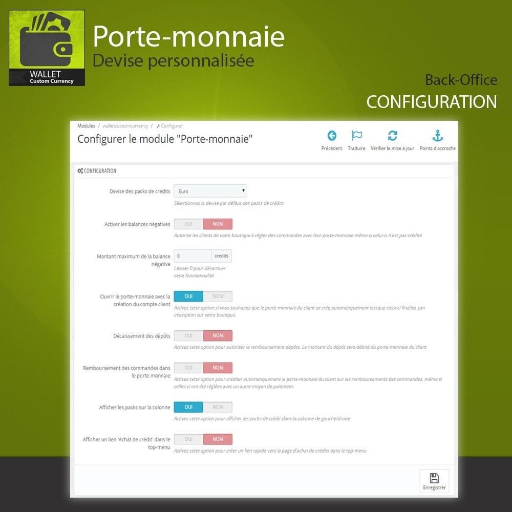 module - Paiement par Carte ou Wallet - Porte-monnaie - Devise personnalisée - 6