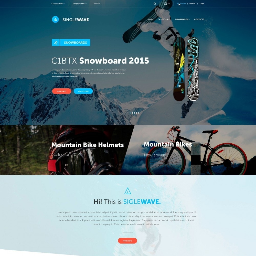 theme - Sport, Activiteiten & Reizen - Singlewave - Sport Winkel - 2
