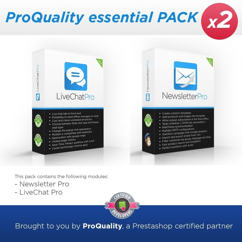 pack - Suporte & Chat on-line - ProQuality essential PACK (x2) - 1
