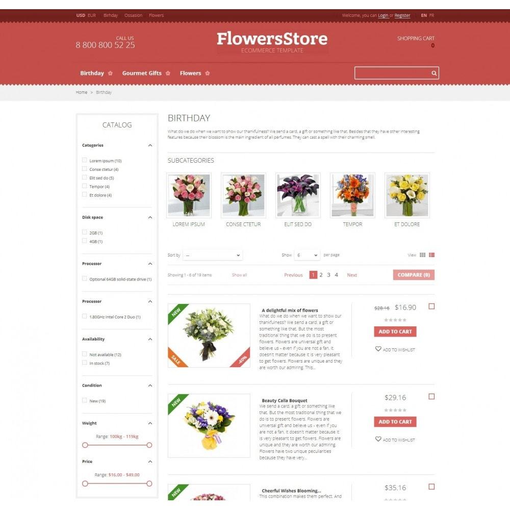 theme - Geschenke, Blumen & Feiern - Floweris - Blumen Shop - 3