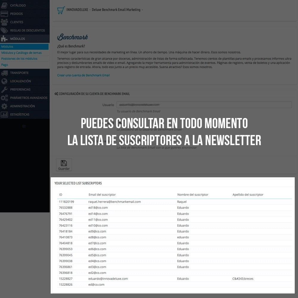 module - E-mails y Notificaciones - Integración con Benchmark Email Marketing - 5