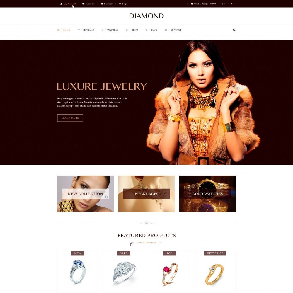 theme - Biżuteria & Akcesoria - Diamond - Sklep Jubilerski - 2