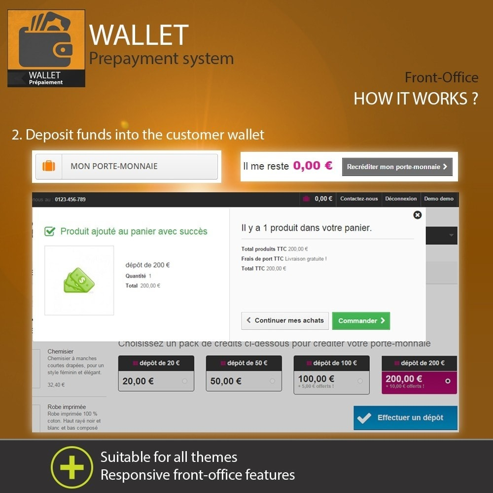 module - Creditcardbetaling of Walletbetaling - Wallet - Prepayment with cash back system - 4