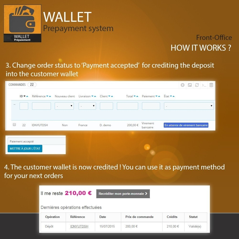 module - Creditcardbetaling of Walletbetaling - Wallet - Prepayment with cash back system - 5