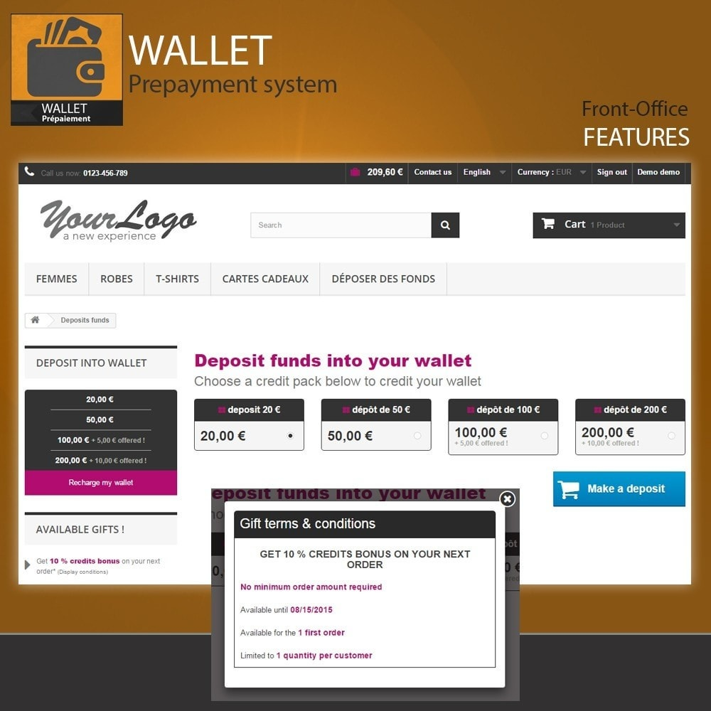 module - Creditcardbetaling of Walletbetaling - Wallet - Prepayment with cash back system - 7
