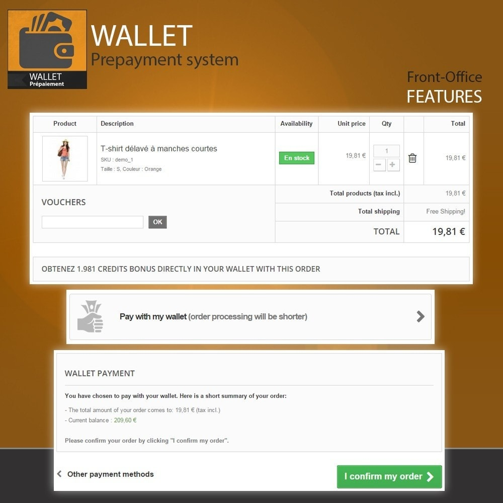 module - Creditcardbetaling of Walletbetaling - Wallet - Prepayment with cash back system - 8