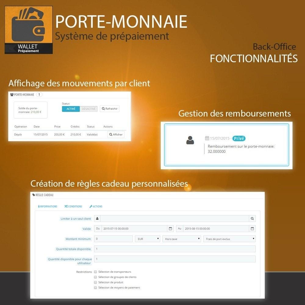 module - Paiement par Carte ou Wallet - Porte-monnaie - Prépaiement avec sytème de cash back - 6