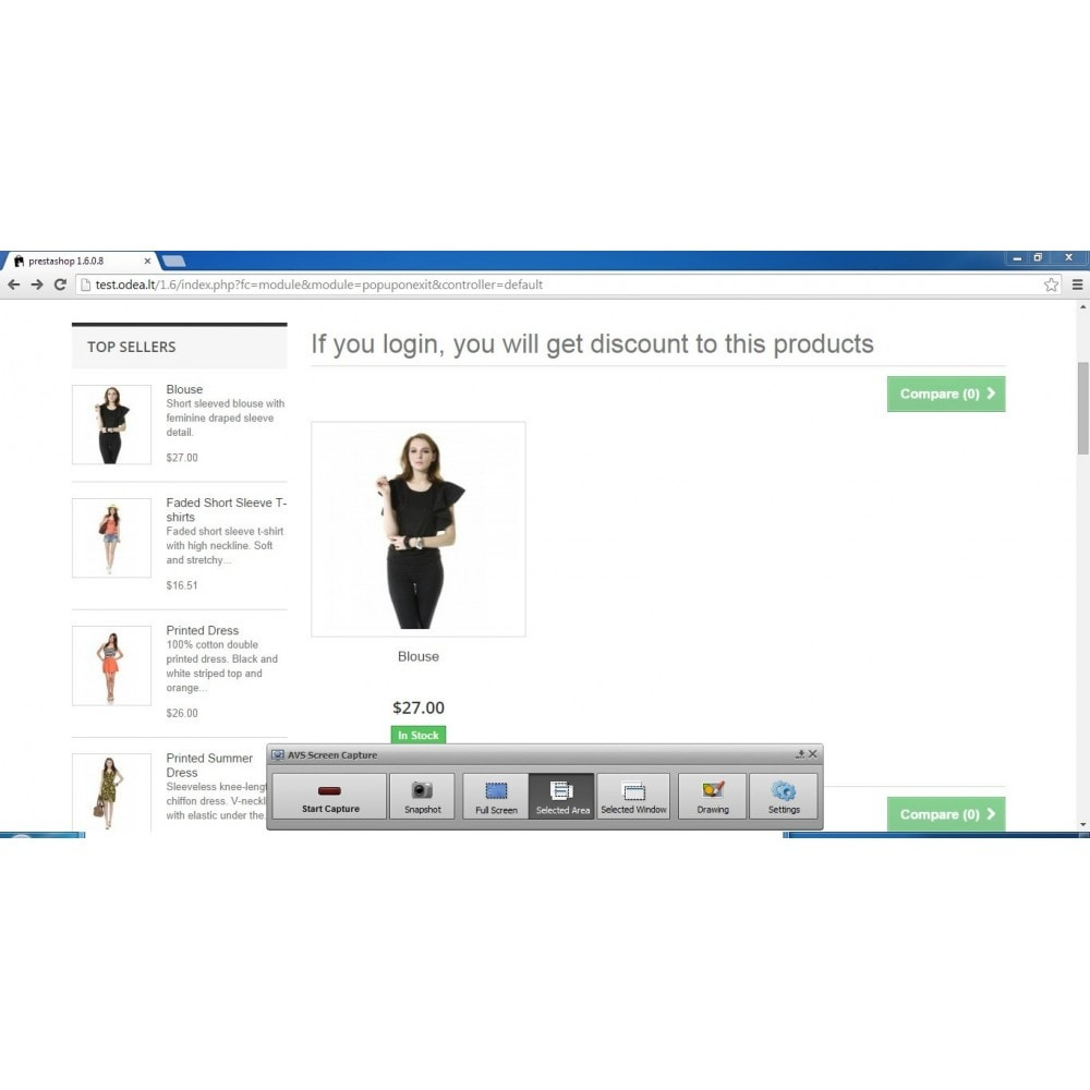 module - Pop-in & Pop-up - Give user a discount on exit - conversion popup - 5