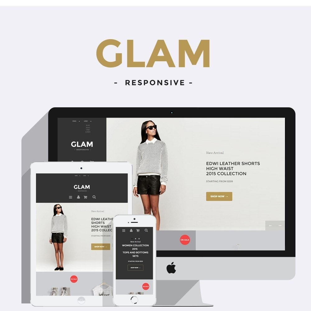 theme - Mode & Schoenen - Glam Prestashop 1.6 Responsive Template - 1