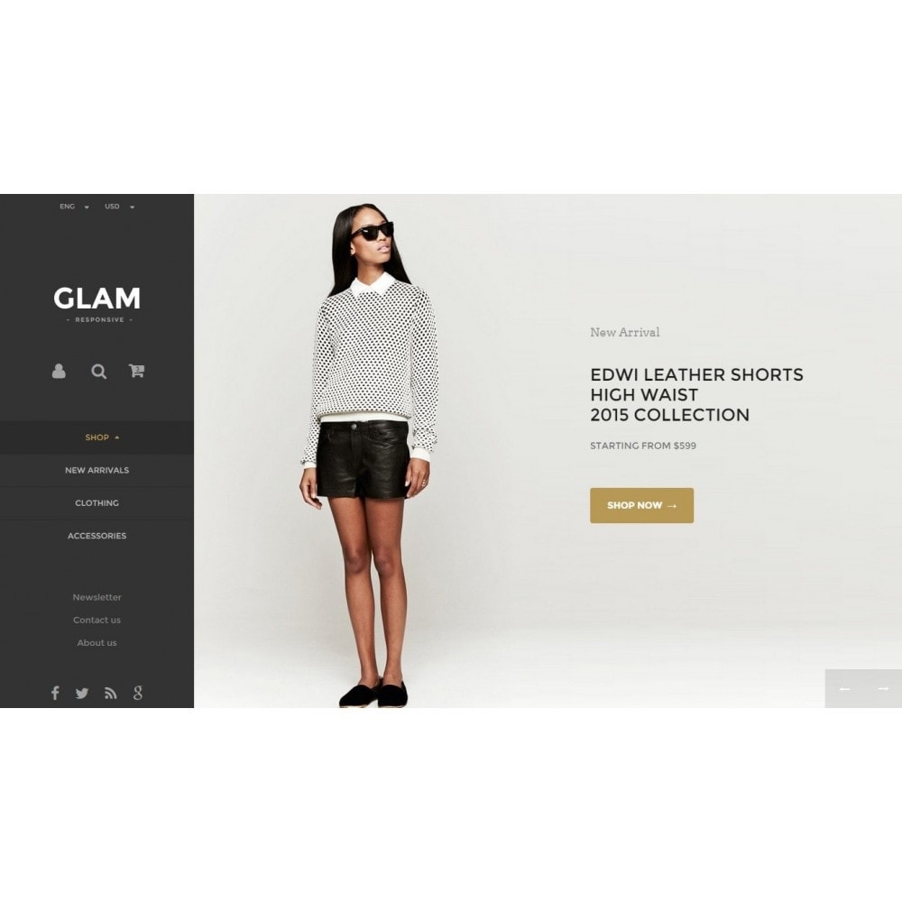 theme - Fashion & Shoes - Glam Prestashop 1.6 Responsive Template - 3