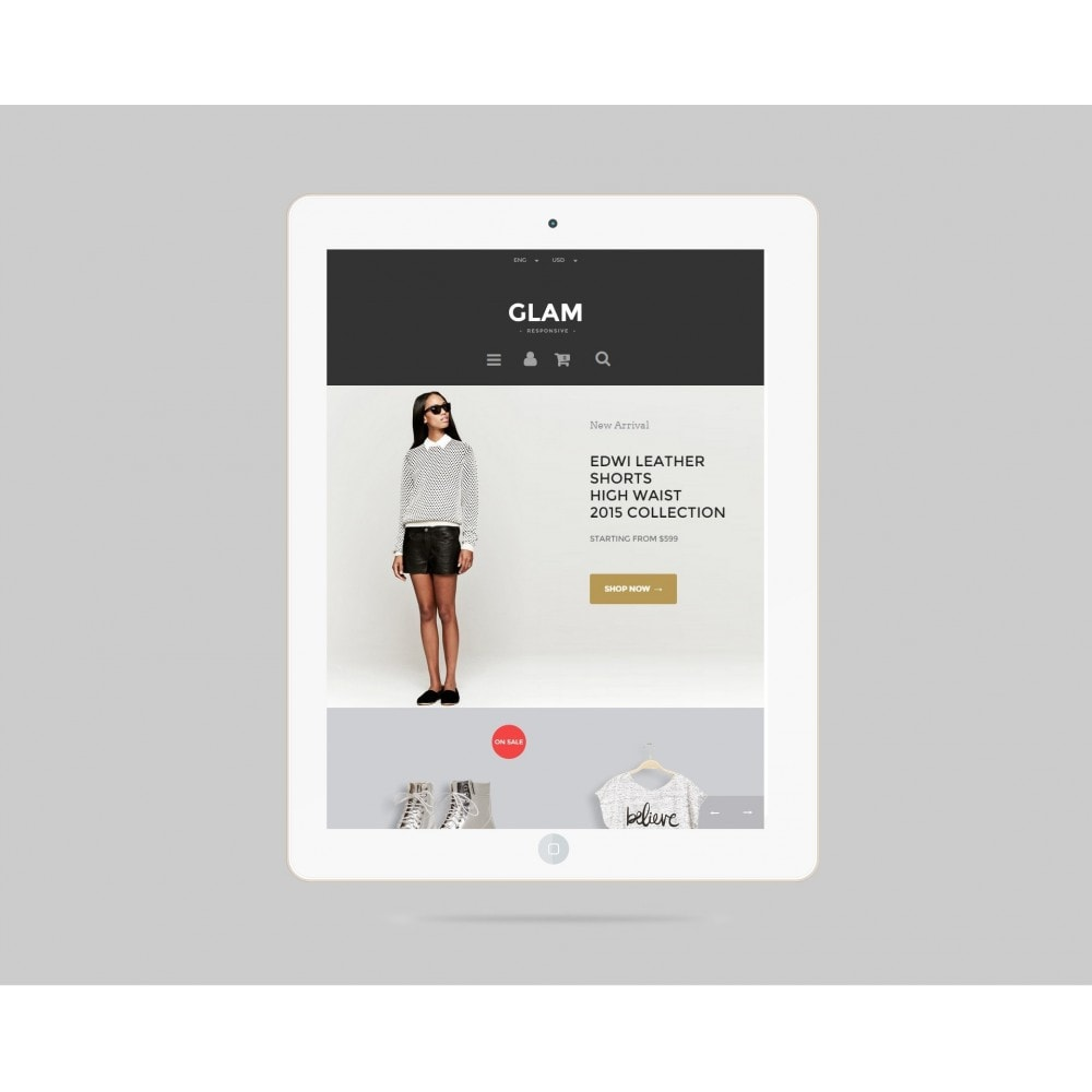 theme - Mode & Schuhe - Glam Prestashop 1.6 Responsive Template - 4