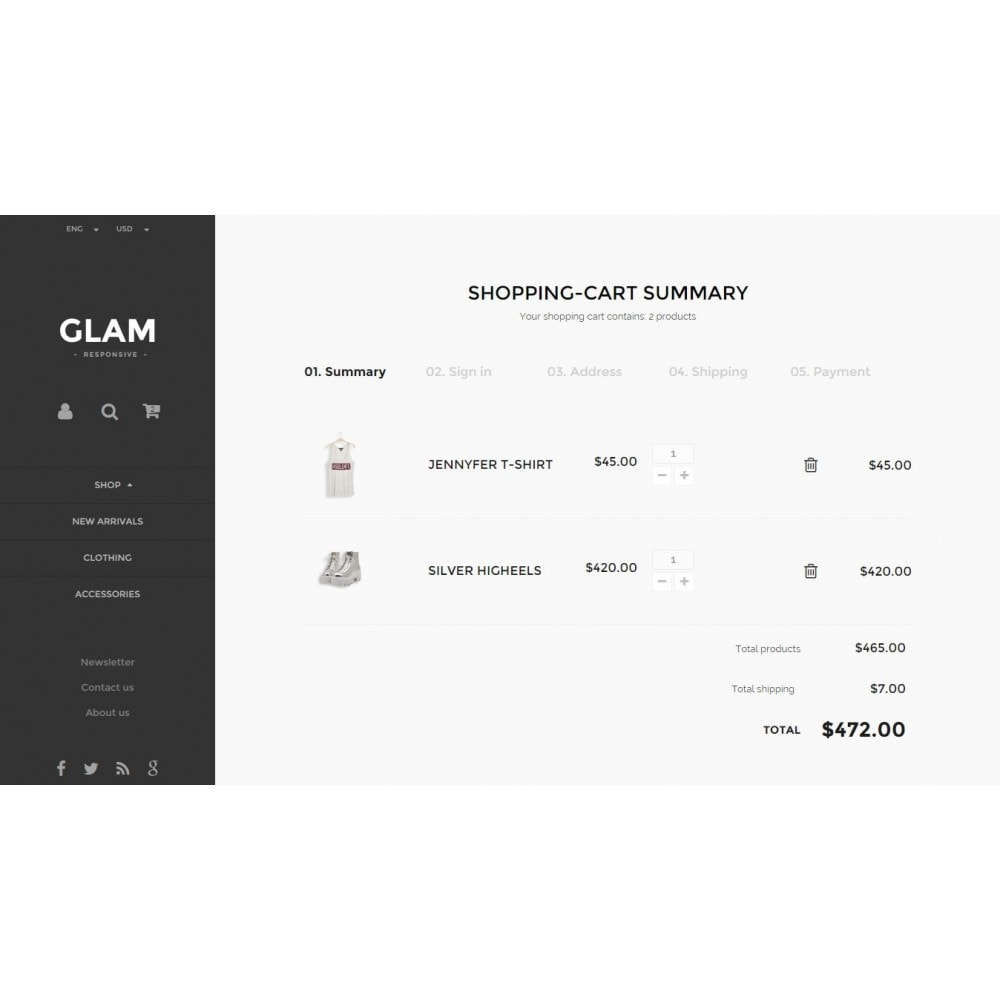 theme - Mode & Schuhe - Glam Prestashop 1.6 Responsive Template - 10