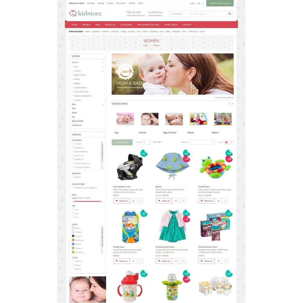 theme - Kids & Toys - Kidstore - Kids & Children Store Responsive PrestaShop - 4