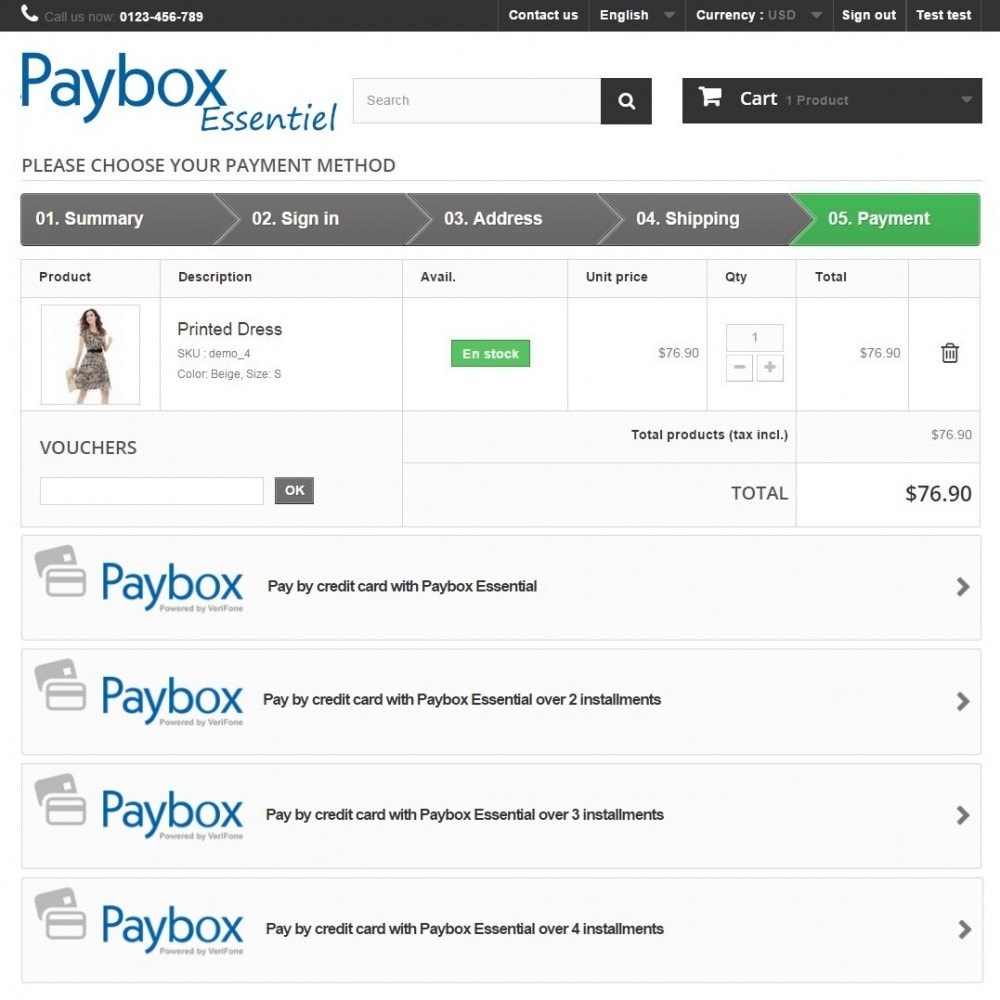 module - Оплата банковской картой или с помощью электронного кошелька - Paybox Essential (1.5, 1.6 & 1.7) - 3
