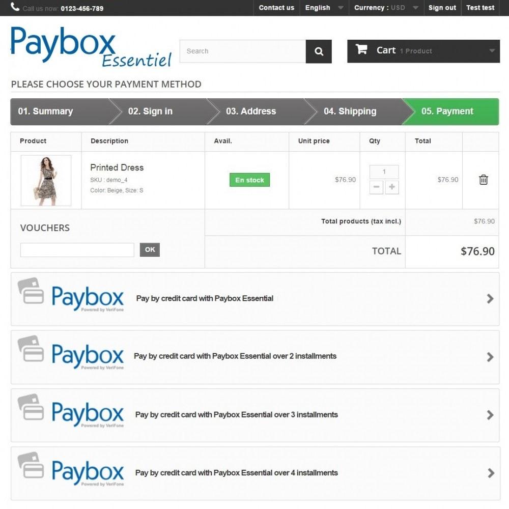 module - Creditcardbetaling of Walletbetaling - Paybox Essential (1.5, 1.6 & 1.7) - 3