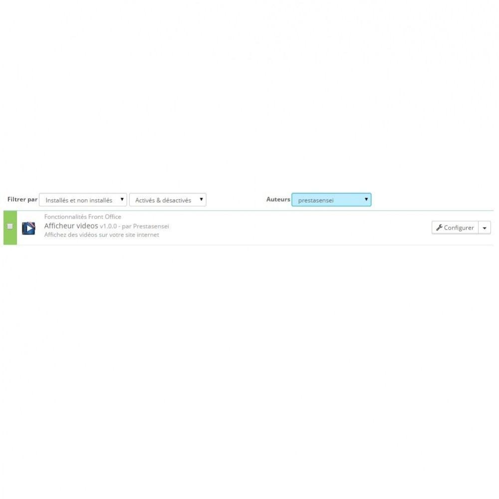 module - Vidéo & Musique - Afficheur vidéo (Youtube, Dailymotion, Vimeo...) - 2