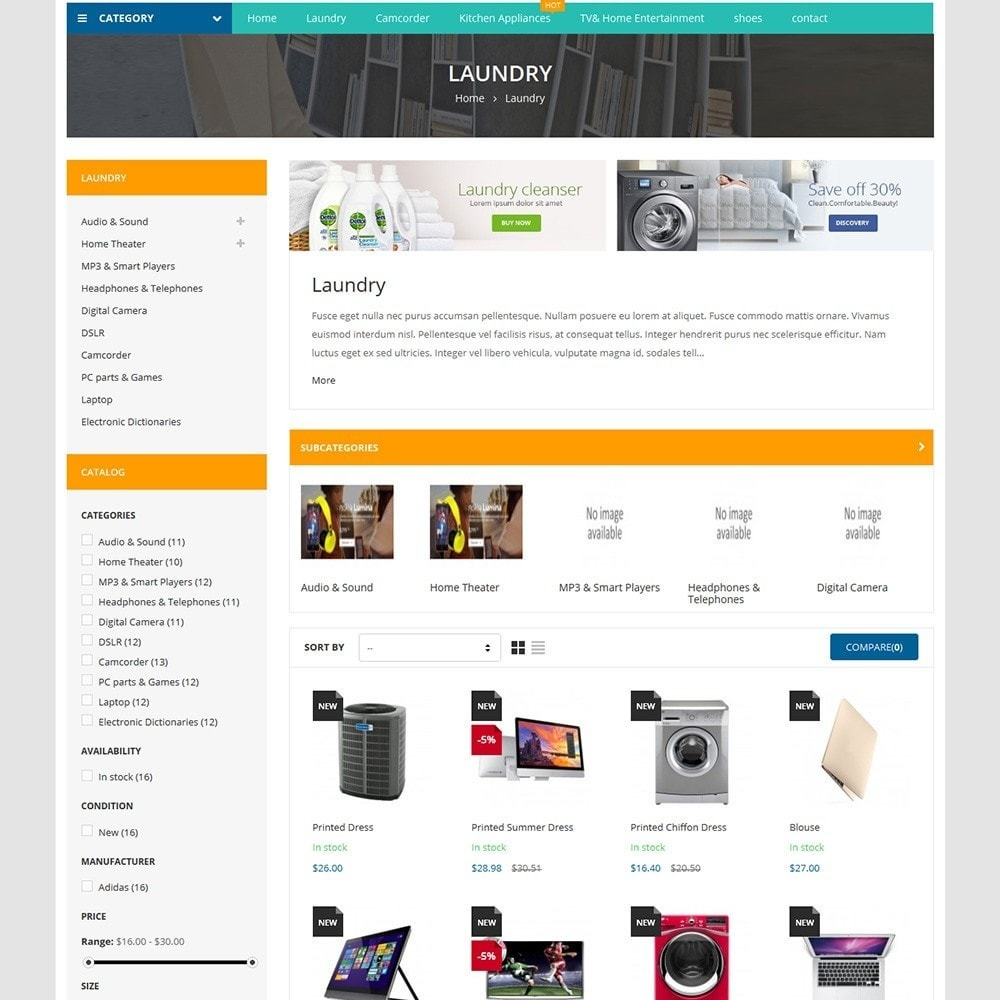 theme - Dom & Ogród - Home Appliances - Neutral Responsive PrestaShop Theme - 5