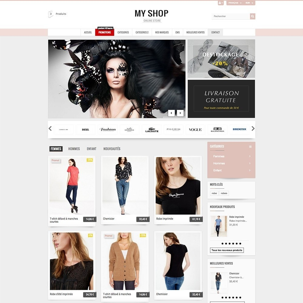 theme - Mode & Chaussures - MY SHOP - 7