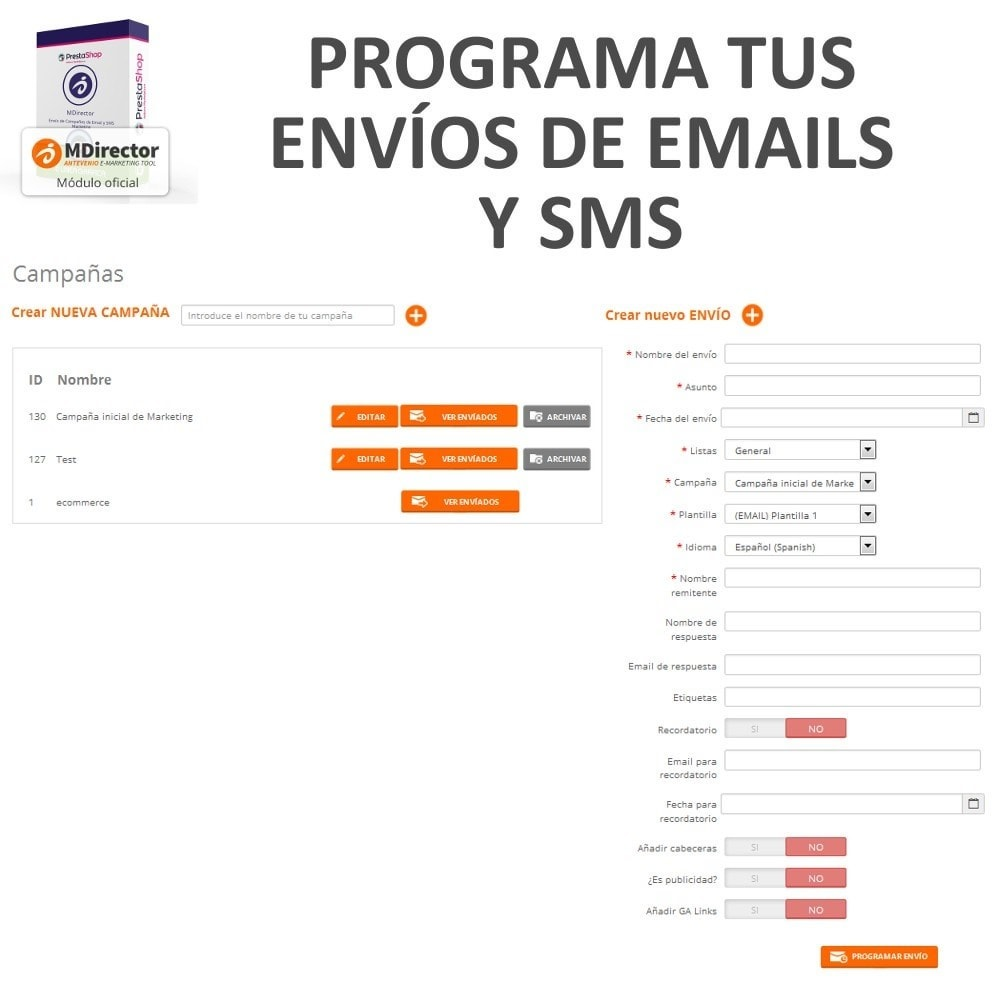 module - Newsletter & SMS - MDirector - SMS and Email Marketing Campaigns - 7