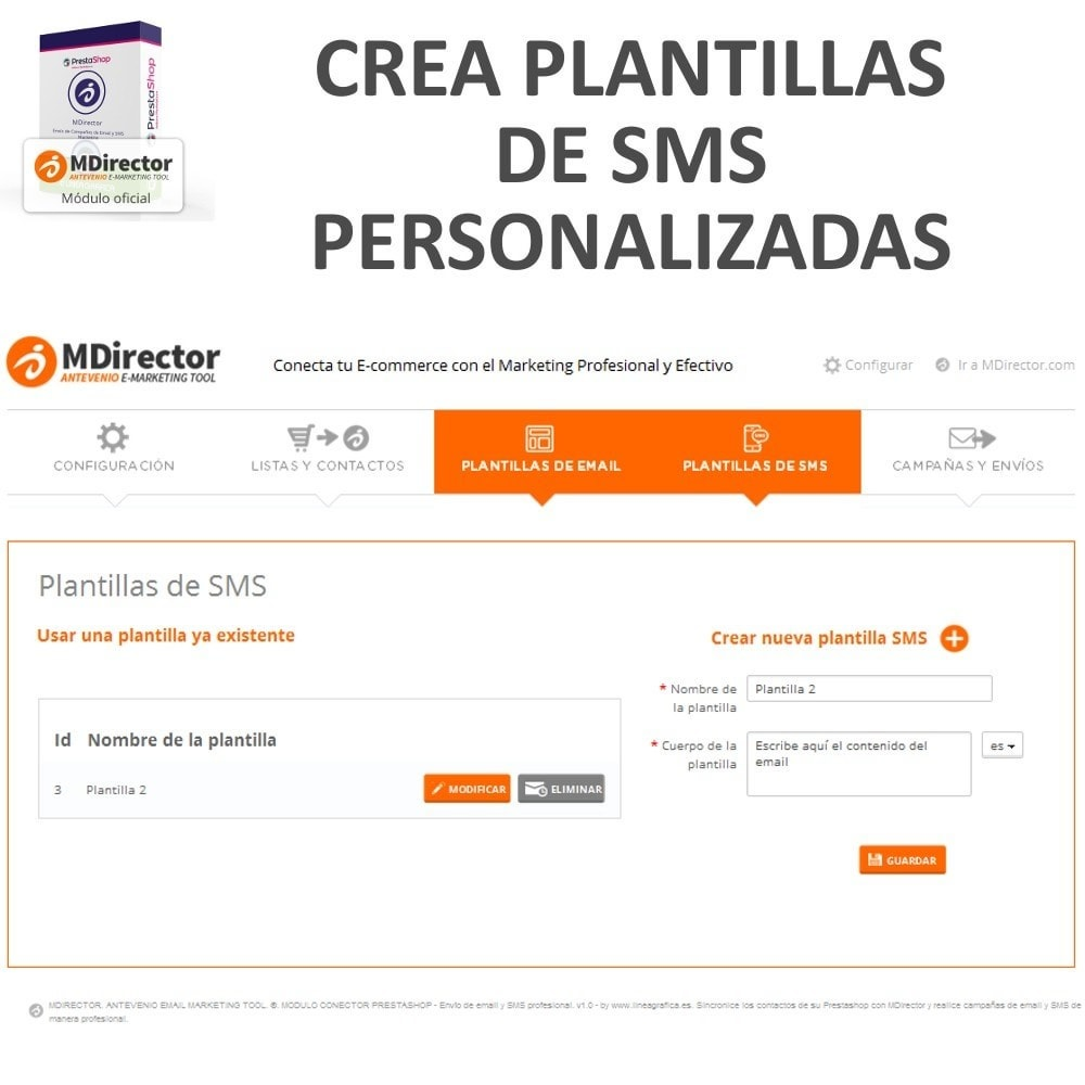 module - Newsletter y SMS - MDirector - Envío de Campañas de Email y SMS Marketing - 6