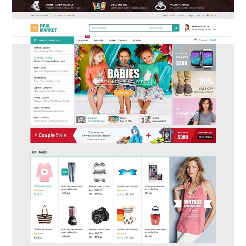 theme - Fashion & Shoes - DealMarket - Fashion Store - 2