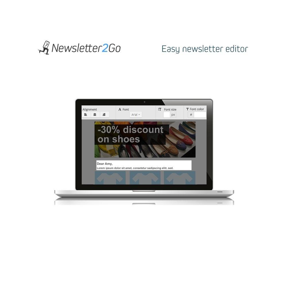 module - Boletim informativo & SMS - Newsletter2Go - 2