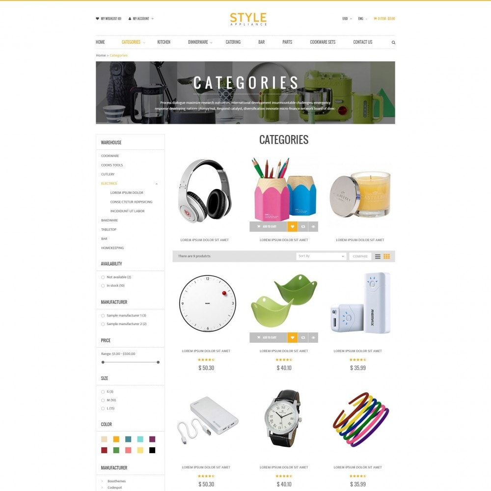 theme - Дом и сад - Kitchen & Home Appliances Responsive PrestaShop Theme - 2
